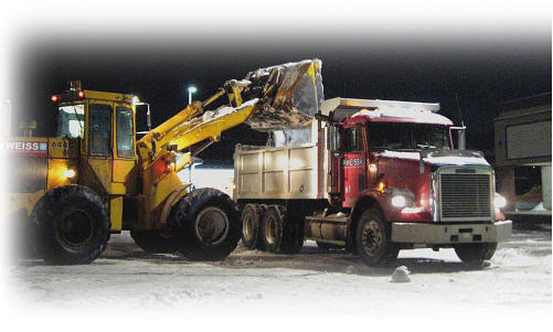 boston snow hauling